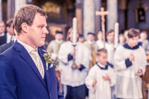 kostel svatba focení